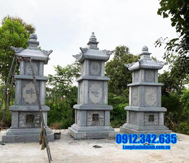 mẫu mộ tháp đá xanh đẹp