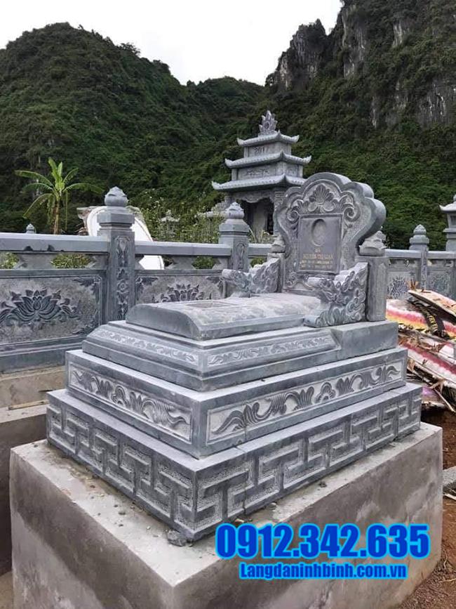 mộ bành đá xanh đẹp