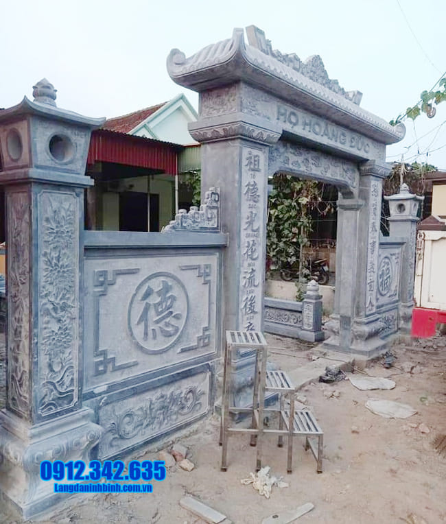 mẫu cổng nhà thờ họ bằng đá đẹp