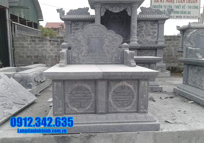 mẫu mộ đôi bằng đá xanh đẹp nhất