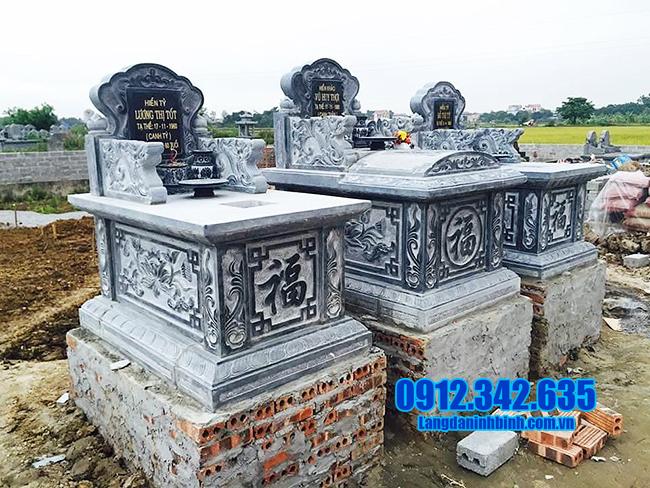 mẫu mộ bành bằng đá thanh hóa