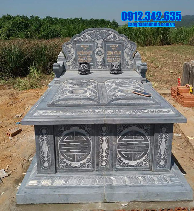 mộ đá đôi ninh bình đẹp