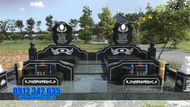 mộ đá granite dành cho hai người
