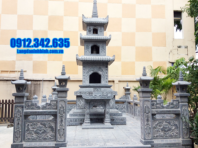 mộ tháp bằng đá xanh thanh hóa
