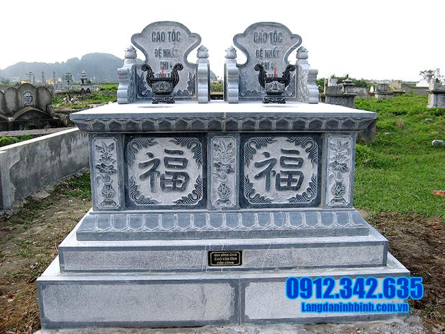 mẫu mộ đôi bằng đá thanh hóa