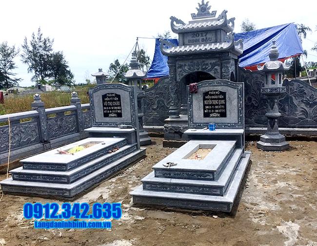 mẫu mộ tam cấp bằng đá thanh hóa