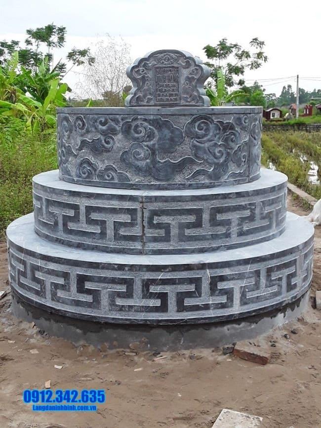 Hình ảnh các mẫu mộ đá tròn đẹp