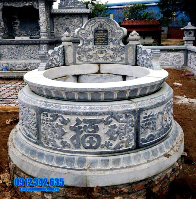 Hình ảnh mẫu mộ tròn bằng đá đẹp