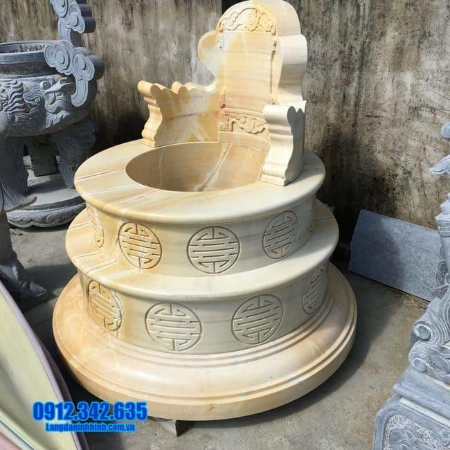 Hình ảnh mẫu mộ tròn bằng đá vàng đẹp