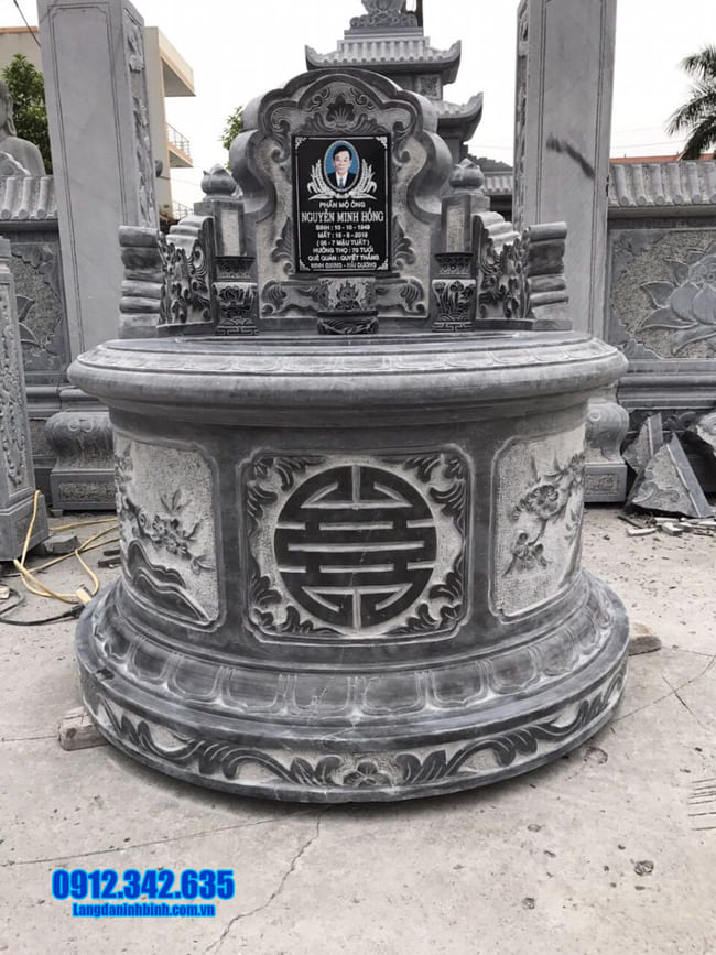 Hình ảnh mộ đá tròn đẹp