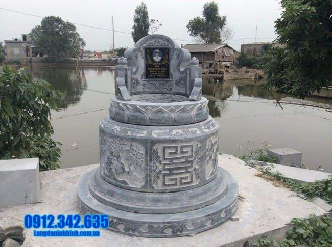 Hình ảnh mộ tròn bằng đá xanh đẹp