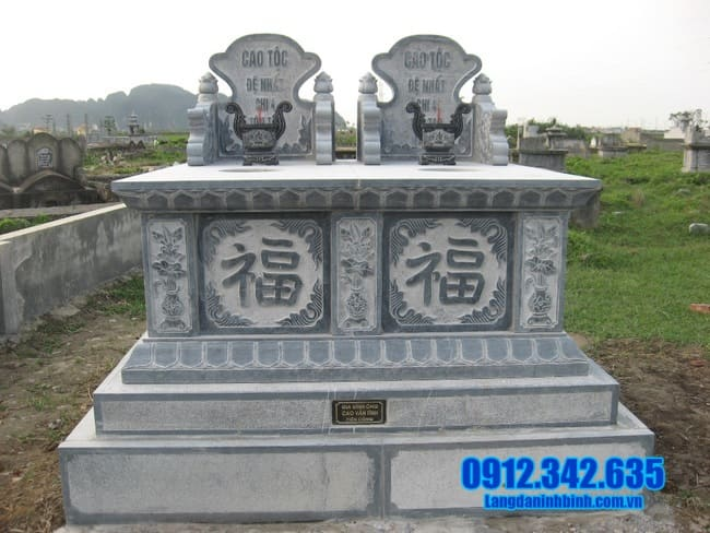 mẫu mộ đá đôi đẹp tại an giang