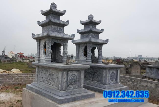 mẫu mộ đá hai mái đẹp tại an giang