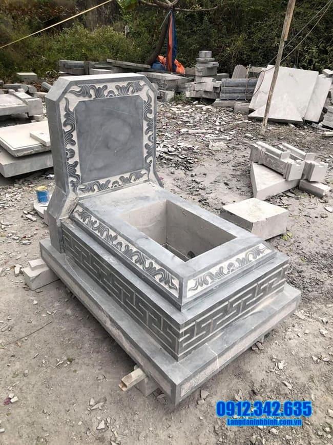 mẫu mộ đá tam cấp đẹp tại an giang