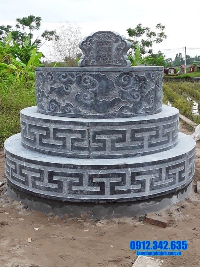 mẫu mộ đá tròn đẹp tại an giang