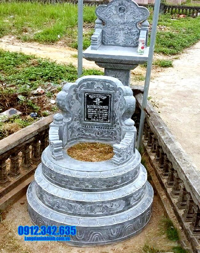 mẫu mộ đá tròn tại long an
