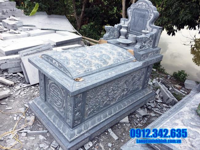 mẫu mộ bành đá đẹp tại an giang