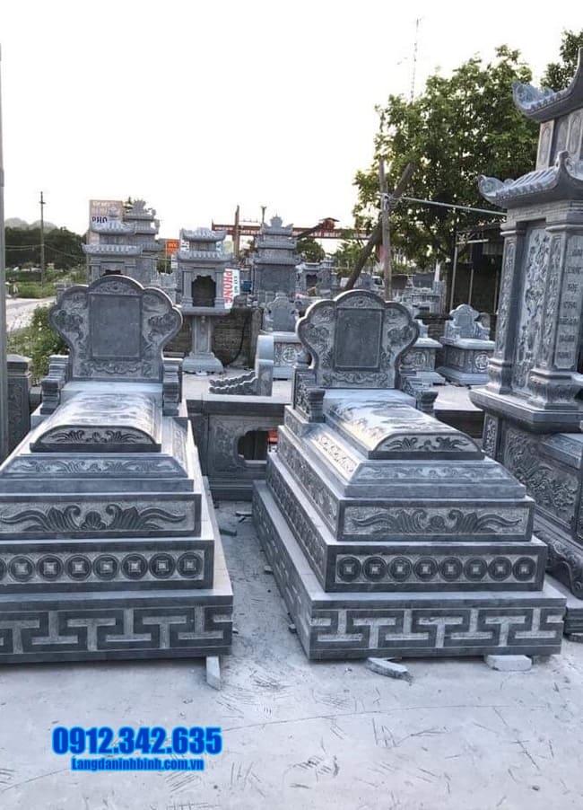mẫu mộ bằng đá đẹp tại long an