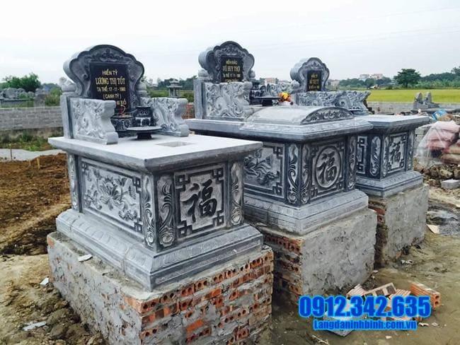 mẫu mộ tam sơn đá đẹp tại an giang