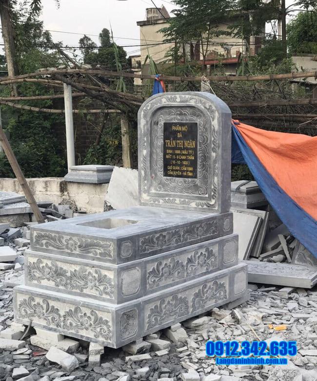 mộ đá tam cấp đẹp tại an giang