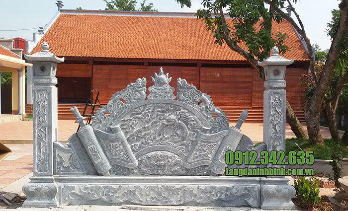cuốn thư đá nhà thờ họ tại Bắc Ninh