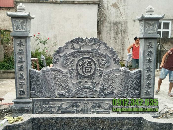 mẫu cuốn thư bằng đá tại Lạng Sơn đẹp