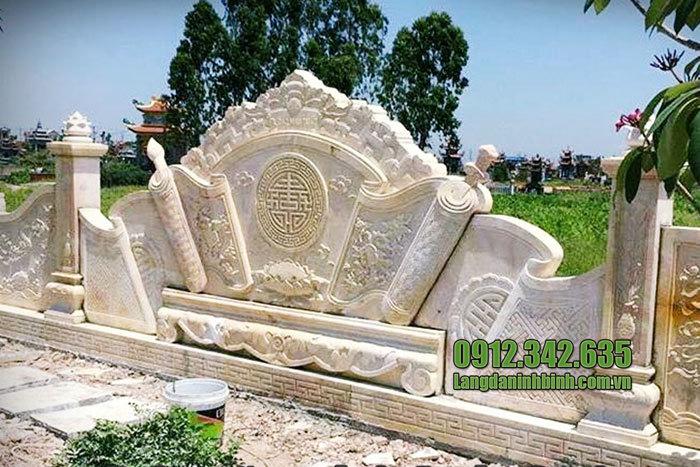 mẫu cuốn thư bằng đá vàng tại Bắc Ninh