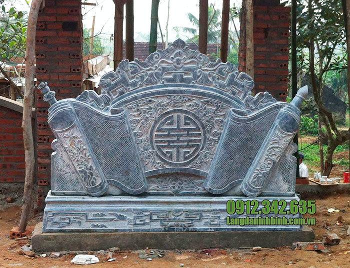 mẫu cuốn thư đá tại Bắc Ninh