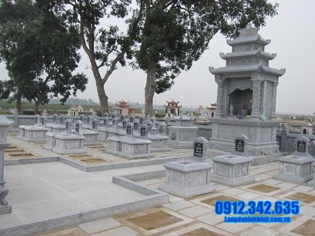 mẫu khu lăng mộ bằng đá đẹp nhất tại Huế