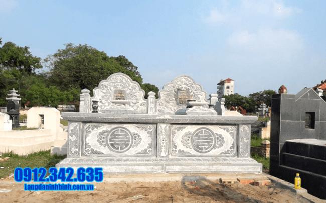mẫu mộ đá đôi đẹp tại Quảng Nam