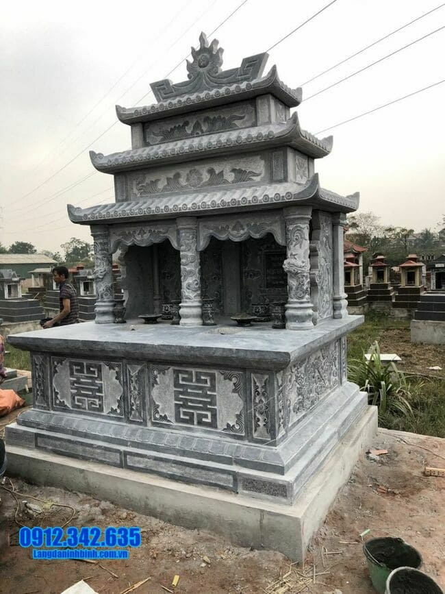 mẫu mộ đá đôi đẹp tại Quảng Ngãi