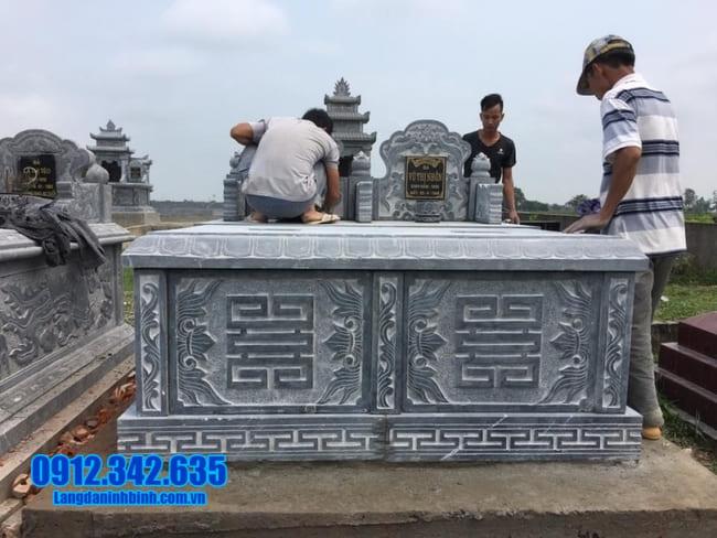 mộ đôi bằng đá tại Quảng Ngãi đẹp