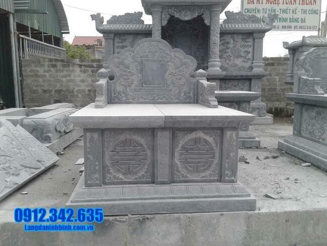 mộ đôi đá mỹ nghệ tại Quảng Ngãi