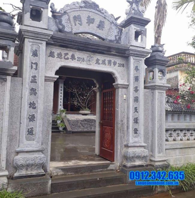 mẫu cổng chùa đẹp bằng đá