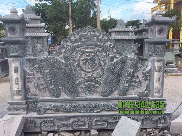 mẫu cuốn thư đá tại Hòa Bình