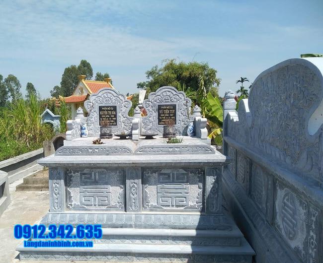 mộ đá đôi tại Bình Định đẹp