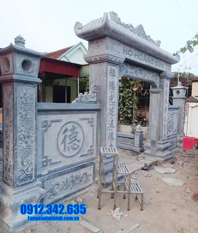 mẫu cổng nhà thờ họ bằng đá tại Bắc Ninh đẹp nhất