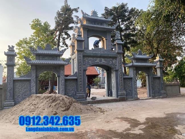 mẫu cổng nhà thờ họ bằng đá tại Bắc Ninh đẹp