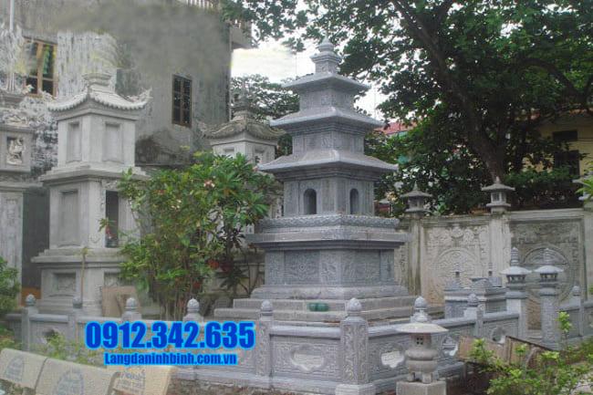 mẫu mộ đá hình tháp tại Bình Phước đẹp