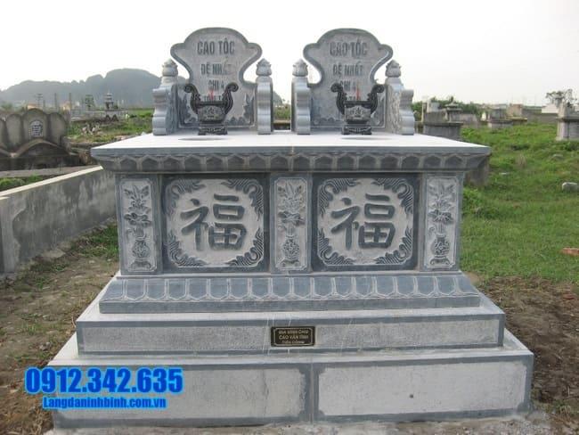 mẫu mộ đôi bằng đá đẹp tại Bình Thuận