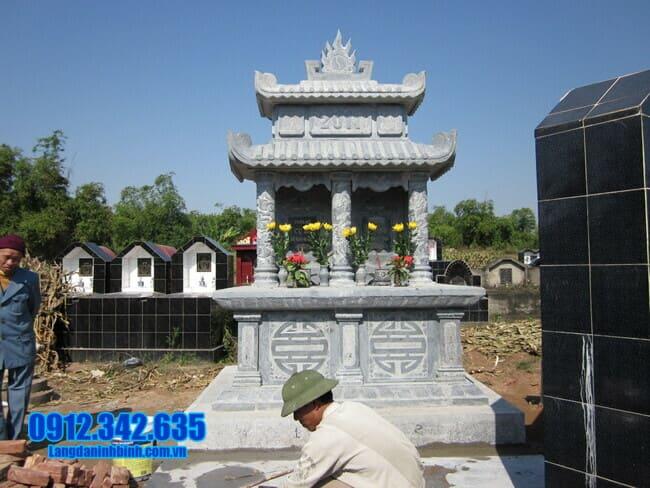 mộ đôi bằng đá tại Bình Thuận đẹp