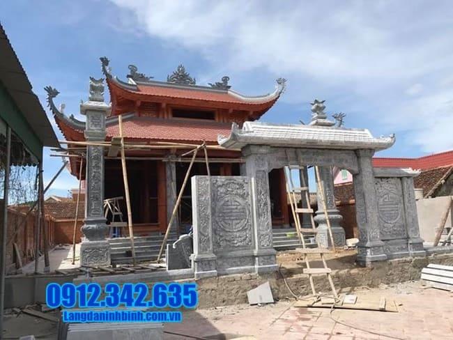 cổng đá nhà thờ họ tại Tuyên Quang đẹp