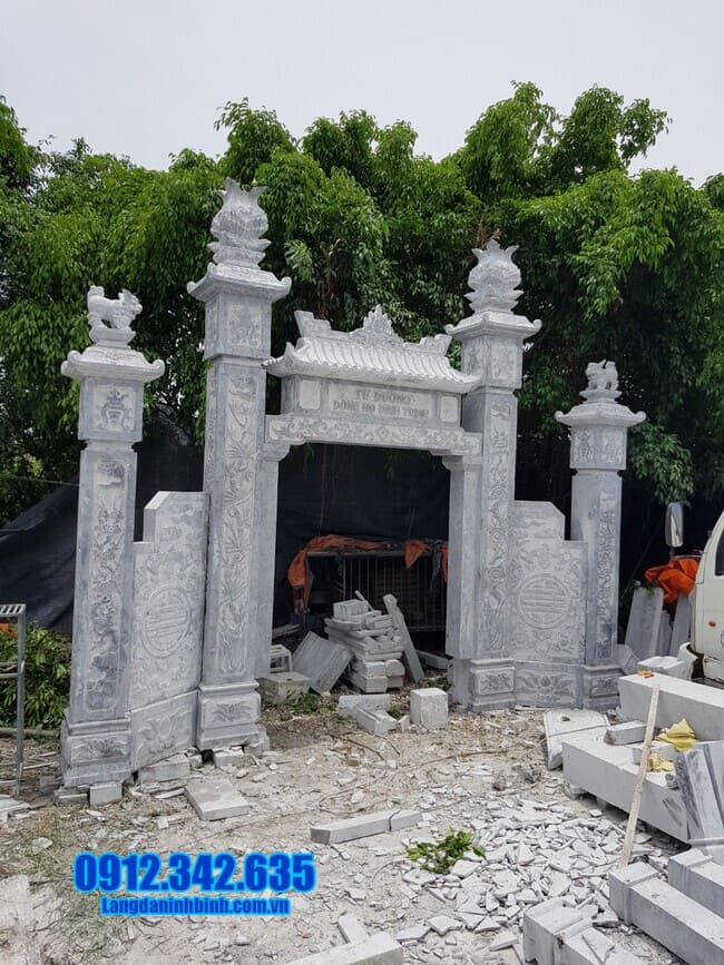 cổng nhà thờ họ bằng đá đẹp tại Hải Phòng