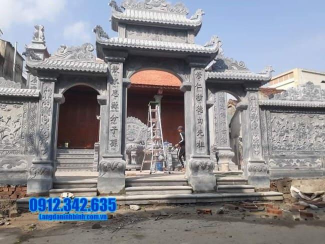 cổng tam quan bằng đá đẹp tại Bắc Giang