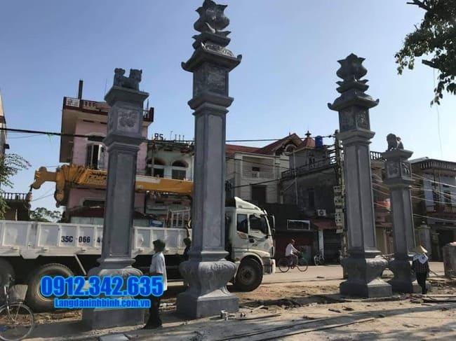 cổng tam quan đá đẹp nhất tại Bắc Giang