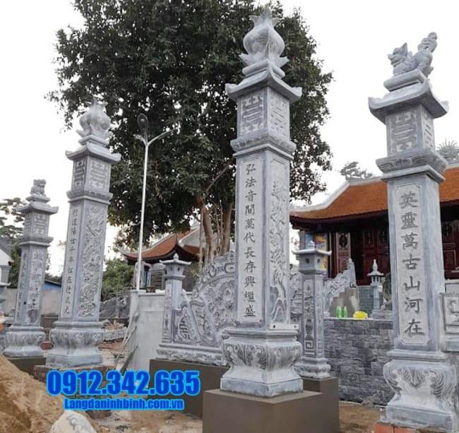 mẫu cổng đá nhà thờ họ tại Hải Phòng