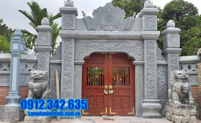 mẫu cổng đá nhà thờ họ tại Thái Nguyên