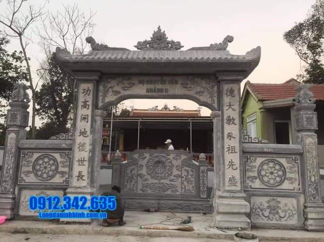 mẫu cổng đá nhà thờ họ tại Tuyên Quang đẹp nhất
