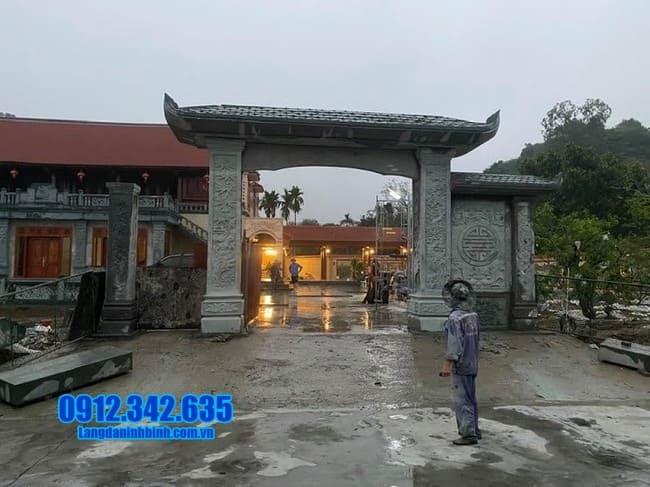 mẫu cổng đá nhà thờ họ tại Tuyên Quang đẹp