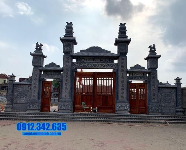 mẫu cổng tam quan bằng đá đẹp nhất tại Bắc Giang